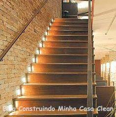 Construindo Minha Casa Clean: 20 Escadas Modernas com Iluminação!!!
