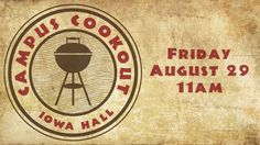 FREE FOOD! Get yours at lunch time under the blue tents in front of Iowa Hall! #welcomeweek #freefood #kirkwoodrocks