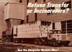 Dump Truck, Tow Truck, Trucks, Waste Management Recycling, Rubbish Truck, Heavy Construction Equipment, Logging Equipment, Garbage Truck, International Harvester