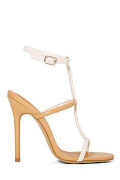 c17be2e728ab6 Shoe Cult Flux Sandal - Nude White Nude Sandals