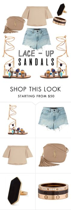 """Untitled #21"" by jenna-shoglow ❤ liked on Polyvore featuring Mabu by Maria BK, T By Alexander Wang, TIBI, Yves Saint Laurent, Jaeger, Cartier, contestentry, laceupsandals and PVStyleInsiderContest"