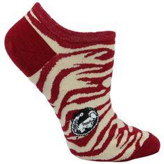 Florida State Seminoles (FSU) Ladies Zebra Print No-Show Socks - Garnet/Gold--> How fun!