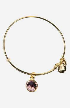 Alex and Ani -   June Birthstone (light amethyst) Expandable Wire Bangle available at Nordstrom