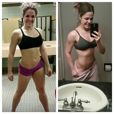Just a little Wednesday morning motivation!  The left picture was almost 1 year ago today & the right is from today.  I like to look back to remind myself that 2014 post-competition was really hard mentally and it showed. But I've finally found a balance and happiness both in my training and in my eating and I'm super stoked to continue on my path. You can do anything you set your mind to! by meganblairfit