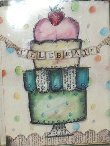 """Demdaco Celebrate My Sweet Treat Birthday Cards 4 Delicious Designs Set of 12 Cards by Lisa Kraus by Demdaco. $12.50. 4 Delicious Designs. Celebrate My Sweet Treat Birthday Cards by Lisa Kraus. Size 6.25"""" x 4.5"""". Blank Inside. Set of 12 Assorted Cards. Celebrate My Sweet Treat Birthday Cards by Lisa Kraus. 1 Box with a Set of 12 Assorted Cards, in 4 Delicious Designs. The cards are 6.25"""" Tall, 4.5"""" Wide. They are Blank Inside."""