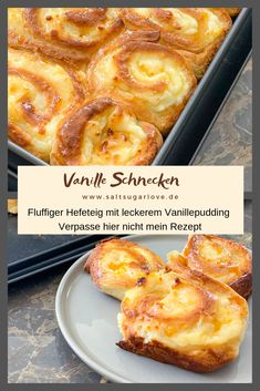 Vanille Schnecken – SaltSugarLove Na was backt ihr diese… Vanilla snails – SaltSugarLove # Apple puff pastry What are you baking this weekend? My new recipe for you is vanilla snails. With us it is very hot, because the yeast dough is still very quick and Baking Recipes, Snack Recipes, Dessert Recipes, Snacks, Drink Recipes, How To Cook Pasta, How To Cook Chicken, Casserole Recipes, Crockpot Recipes