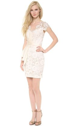 Notte by Marchesa Lace Cap Sleeve Cocktail Dress