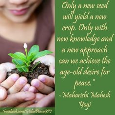 A new seed. will yield a new crop. Maharishi Mahesh Yogi, Seeds, Canning, Dessert, Mom, Google Search, Deserts, Postres, Home Canning