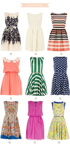 Summer dresses with a high neckline? Yes please!