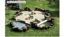Arenero - borde troncos