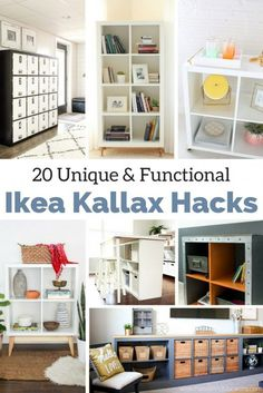See The Best Ikea Kallax Hacks & great ways to use them in your home! From kitchen island, a bench for any room or tv stand the possibilities are endless