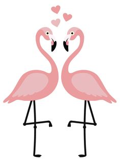 De trend van nu: fleurige flamingo muurstickers. #flamingo #muursticker #lief