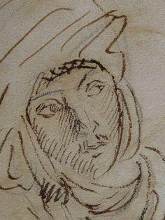 CHASSERIAU Théodore,1846 - Arabe à mi-corps - drawing - Détail 7