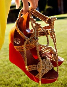 Tory Burch rope wedges #r29summerstyle