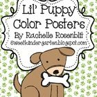 This+set+contains+11+posters+with+an+adorable+puppy+mascot.+The+colors+are: red orange yellow green blue purple pink gray brown black white...