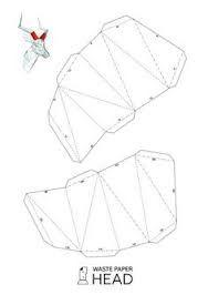Afbeeldingsresultaat voor WastePaperHead printable Origami And Kirigami, Origami Paper Art, Origami Folding, Paper Folding, Diy Paper, Paper Crafts, Cardboard Animals, Cardboard Paper, Cardboard Crafts