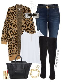 Plus Size Leopard Cardigan Outfit Ideas - Alexa Webb - Plus Size Leopard Cardigan Outfit Ideas – Plus Size Fall Outfits – Plus Size Fashion for Women - Outfits Plus Size, Plus Size Fall Outfit, Plus Size Fashion For Women, Plus Size Going Out Outfits, Plus Size Winter Outfits, Leopard Cardigan Outfit, Cardigan Outfits, Leopard Sweater, Knit Cardigan