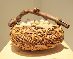 I love this artist, Deloss Weber.  He uses stone and weaving o create these beautiful works of art