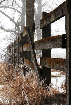 Beautiful Wood Farm Fence