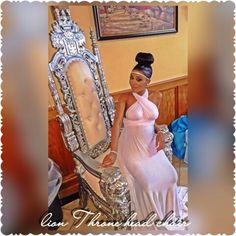 Queens throne baby shower chair rental | @femalesosaa❗❤❗