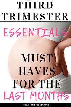 Pregnancy must have items and third trimester essentials. Things every new mom needs to make the last months easier and prepare for delivery! Pregnancy First, Pregnancy Early Pregnancy Must Haves, Pregnancy Advice, Pregnancy Months, Pregnancy Care, First Pregnancy, Pregnancy Workout, Pregnancy Products, Pregnancy Foods, Pregnancy Quotes