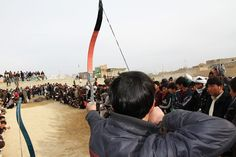Afghan Archery Competitions Don't Look Very Safe...
