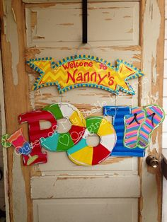 Pool door hanger sign by queensofcastles on Etsy