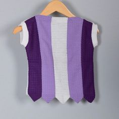 Childrens Vintage 60s Girls Purple White Stripe by Whirliss, $25.00