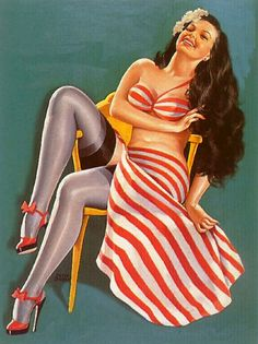 Adorable shoes! #vintage #pinup #girl #art