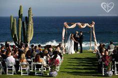 Rustic Wedding Chuppah with talavera vases entrance!! Mexican Chic Wedding - Chris + Lynn Photographers - Wedding Planner Karla Casillas