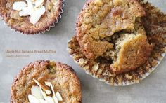 Maple Nut Banana Bread Muffins (from Health-Bent)