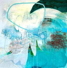 """C O U R T    L U R I E, Qua I, 2011  Mixed Media on Canvas  48"""" x 48"""" Abstract Landscape, Abstract Art, Inspirational Artwork, Mark Making, Mixed Media Canvas, Art Boards, All The Colors, Favorite Color, Digital Art"""