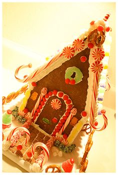 Our gingerbread houses never turn out this pretty,