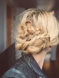 messy braid + updo