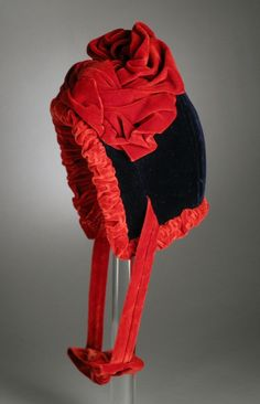 Girl's bonnet | United States, circa 1880 | Material: silk velvet | Los Angeles County Museum of Art, LACMA