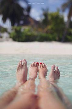 .Look at my feet..