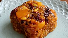 Yaksik (Sweetened Rice with Dried Fruits & Nuts: 약식)  -          *Contains ....  Jujube!   - Mangchi from U Tube.