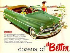 Mercury, el coche de la época  vía    CarrosyClasicos.com   