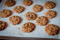 oatmeal cookies, I made with honey instead of sugar and added 2 bananas, with nuts and choco chips - Yum