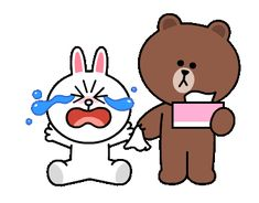 LINE Official Stickers - Brown & Cony Heart Melting Romance Example with GIF Animation Cute Cartoon Images, Cute Couple Cartoon, Cute Couple Art, Cute Love Cartoons, Cartoon Pics, Cute Love Pictures, Cute Love Gif, Gif Lindos, Dog Emoji