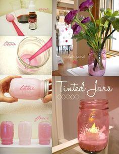 How-to Tint Mason Jars.