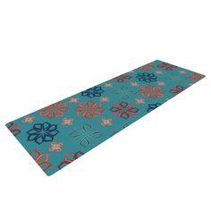 Turquoise Mini by Jolene Heckman Flowers Yoga Mat