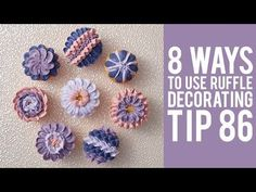 Learn how to pipe 8 designs on cupcakes with Tip 105 Stay Sweet, Subscribe: http://s.wilton.com/10vmhuv Ingredients: - Cupcakes - 4.5 lb. White Ready-To-Use ...