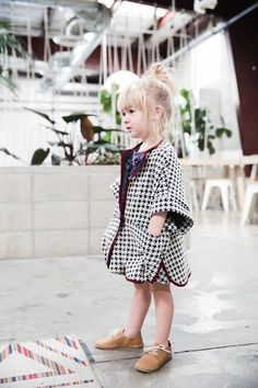 Little Red Cape - Houndstooth Ponte