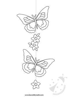 DECORAZIONI DI PRIMAVERA Decorazione con farfalle e fiori da attaccare al soffitto di scuola nel periodo primaverile.