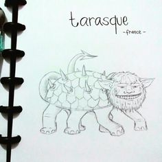Mystical creature from france. Tarasque.
