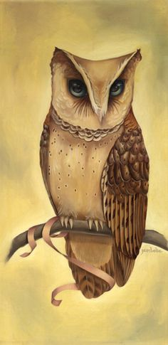 Owl painting made by Jen Vaughn.