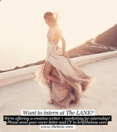 Have a passion for weddings, fashion, art and interior design? We're looking for two amazing interns to work alongside our team! More details: http://thelane.com/Backstage/post/2013-07-04-want-to-intern-at-the-lane