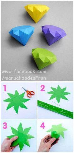 Diamantes de papel