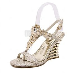Women's Shoes Synthetic Wedge Heel Open Toe Sandals Party & Evening / Dress Pink / Almond 2016 - $26.99